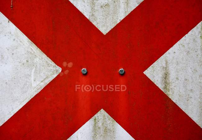 Abstract textured backdrop with wall sign — Stock Photo