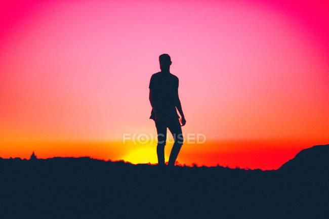 Quand le soleil se couche — Photo de stock