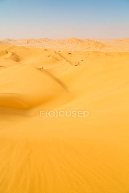 Sand dune in oman old desert — Stock Photo