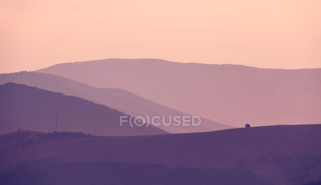 Evening in Carpathian mountains — Stock Photo