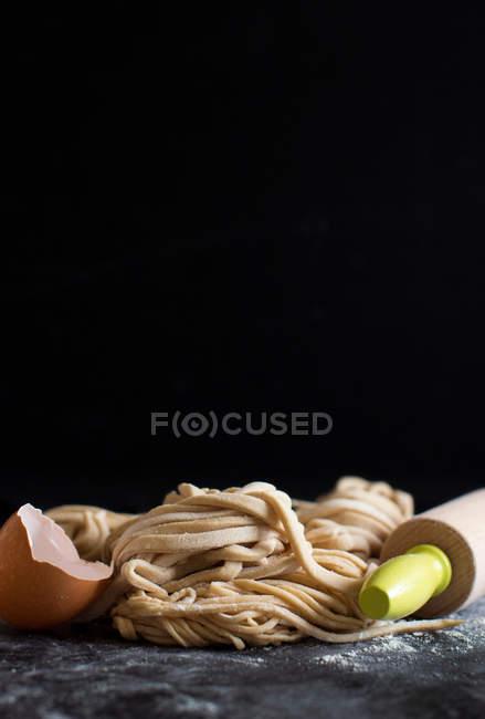 Frische hausgemachte pasta — Stockfoto