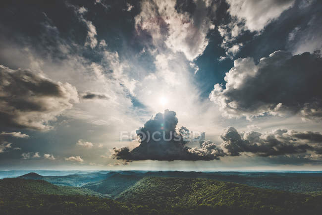 Scenic view of mountains forest — Stock Photo