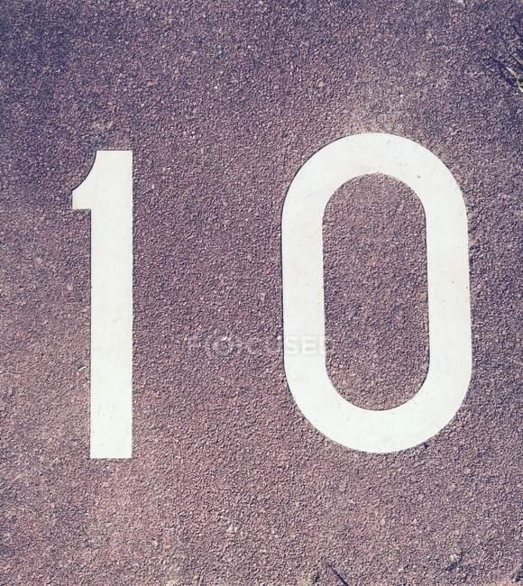10 знак на бетонные поверхности — стоковое фото