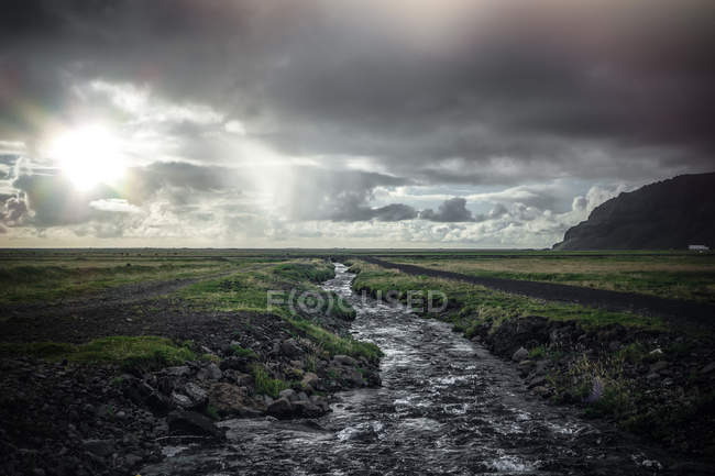 Landscape of Iceland with river view — Stock Photo