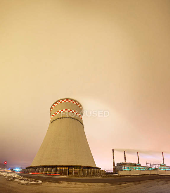 Coal power station, energy industry, reactor — Stock Photo