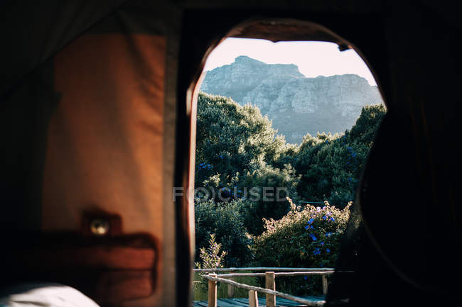 Berge aus Zelt — Stockfoto