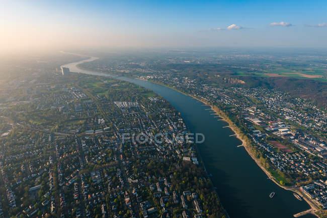 Superbe vue aérienne de la ville de Bonn — Photo de stock