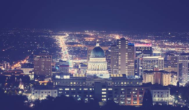 Salt Lake City-downtown — Stockfoto