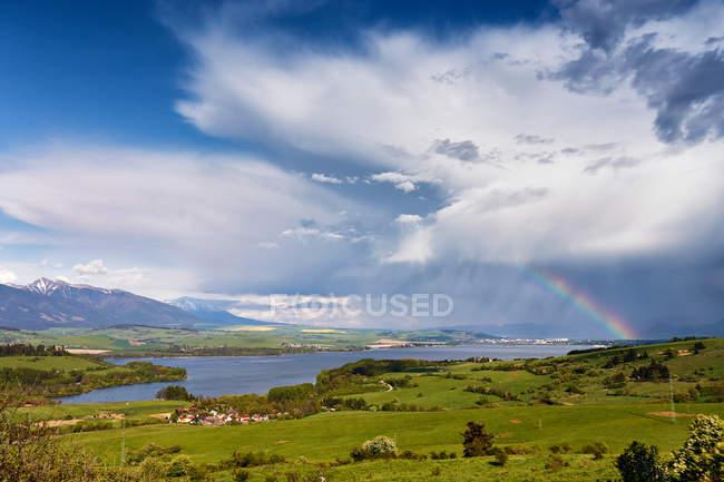 Rainbow after rain — Stock Photo