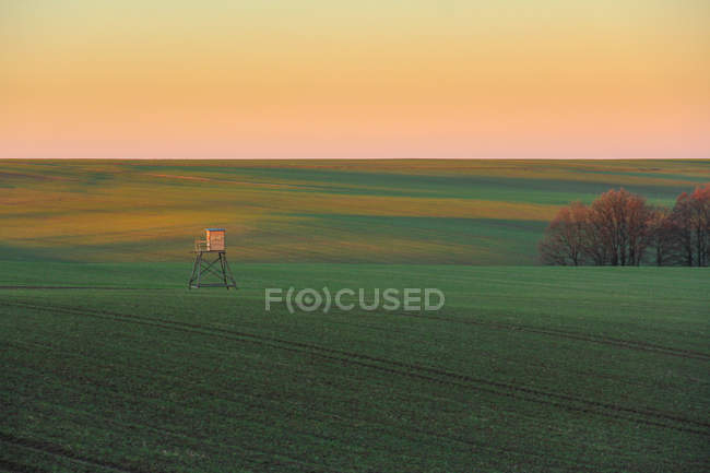 Landschaftlichen Blickfeld bei Sonnenaufgang — Stockfoto