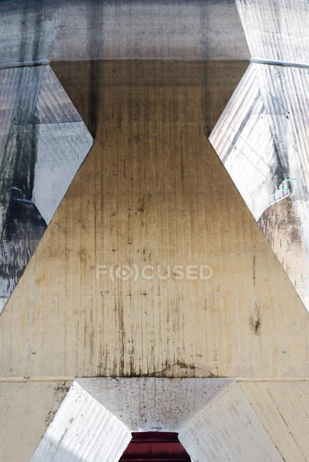 Abstrait architecture détails de construction, construction de pont — Photo de stock