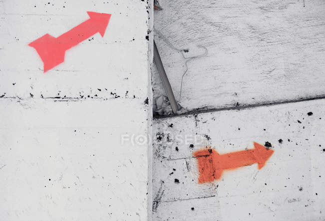 Two red arrow signs — Stock Photo