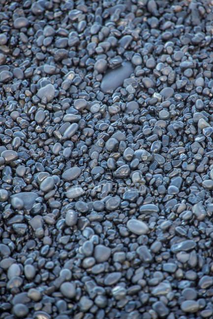 Vista do close-up de pedras de lava negra — Fotografia de Stock