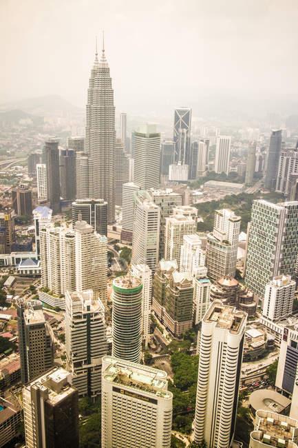 Arquitectura de edificios de banco de la ciudad de lujo - foto de stock