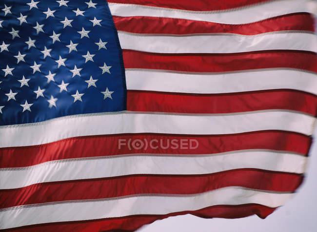 Крупным планом национального флага Соединенных Штатов Америки — стоковое фото