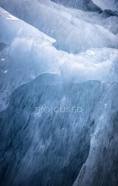 Vista abstrata de gelo glaciar Islandês — Fotografia de Stock