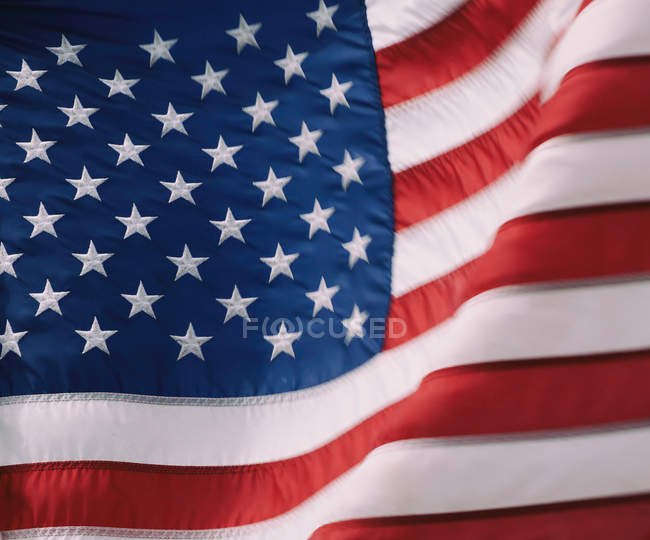 Closeup of national flag of united states of america — Stock Photo