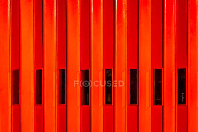 Metal red background with stripes — Stock Photo
