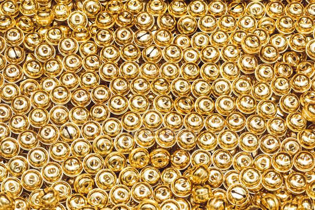 Золотой сверкающие круги, текстуры фона, полный кадр — стоковое фото
