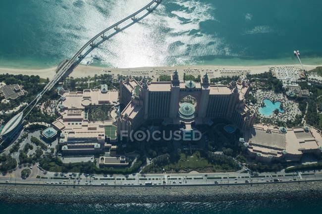 Vista aérea panorâmica da costa de Dubai — Fotografia de Stock