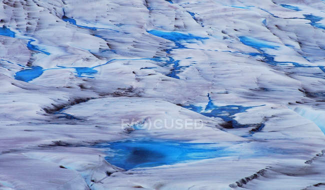 White blue frozen glacier water structure — Stock Photo