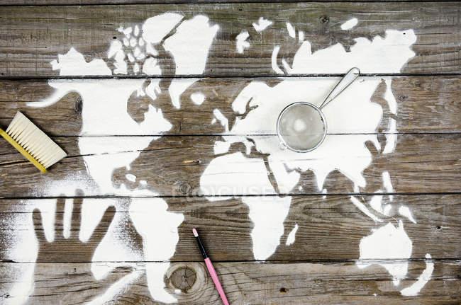 Burlándose del concepto de continentes - foto de stock