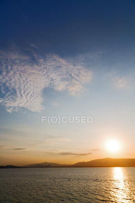 Горизонт средиземноморского Красного моря — стоковое фото