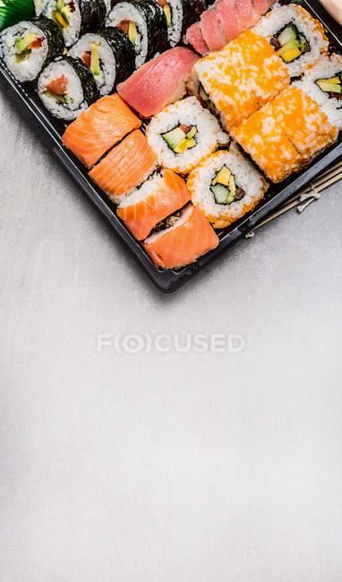 Various sushi rolls — Stock Photo