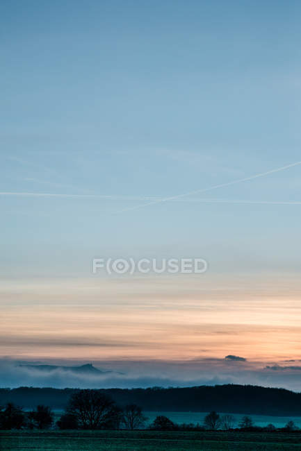 Colorful sunset sky view — Stock Photo