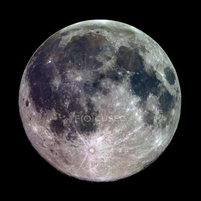 Повний місяць на небі — стокове фото