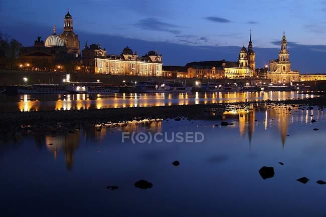 Історичний міський пейзаж Дрезден — стокове фото