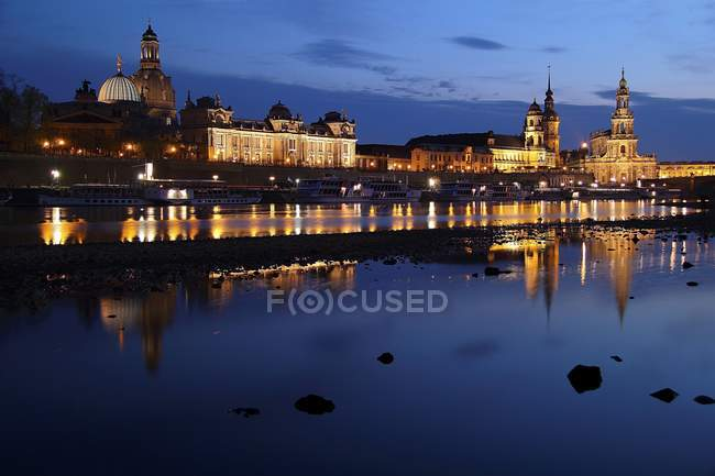 Historical cityscape of Dresden — Stock Photo
