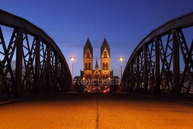 Кельнський собор і Гогенцоллерн міст, Кельн, Німеччина — стокове фото