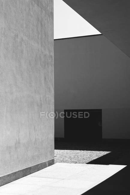 Architecture building exterior shot in shadow — Stock Photo