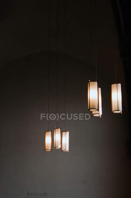 Elementi di illuminazione, Lampade a soffitto a sospensione — Foto stock