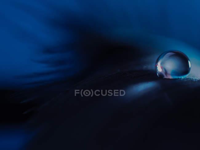 Vue abstraite de la goutte d'eau — Photo de stock