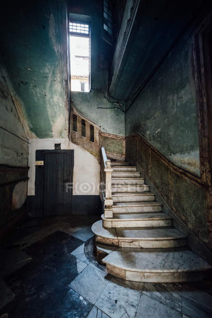 Cropped View Of Winding Staircase U2014 Stock Photo