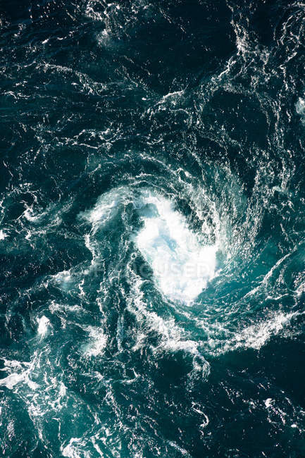 Sea water swirl in Norway — Stock Photo