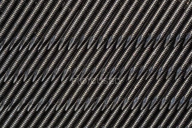 Metal iron nails background — Stock Photo