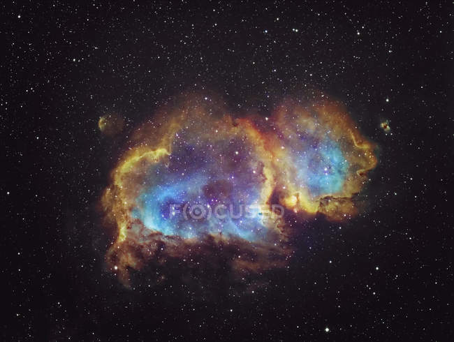 Colorful nebula and twinkling stars in night — Stock Photo