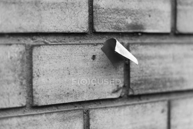 Backstein graue Wand Textur, schwarz / weiß — Stockfoto