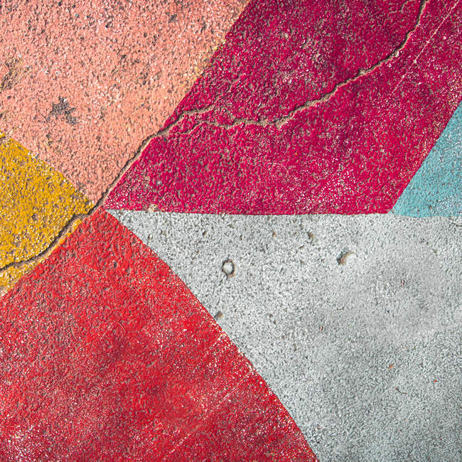 Abstract textured backdrop with colorful facade pattern — Stock Photo