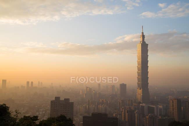 Taipei City-skyline — Stockfoto