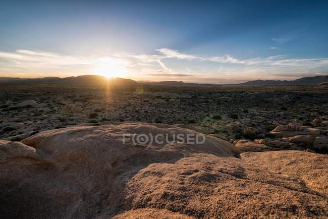 Vista do Parque Nacional Joshua Tree — Fotografia de Stock