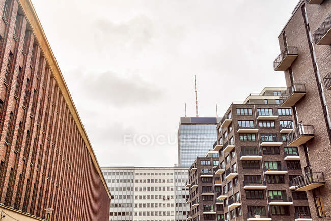 Residential houses facades, city architecture — Stock Photo