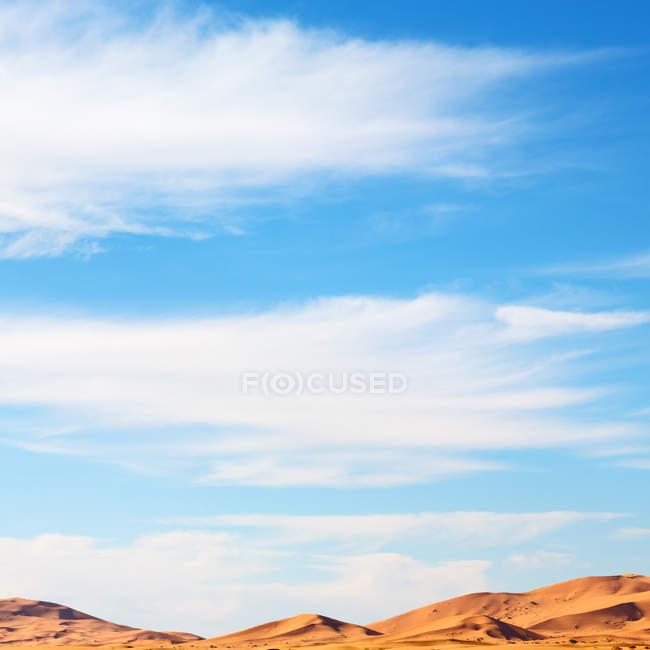 Paisagem com terreno de sobremesa sahara — Fotografia de Stock