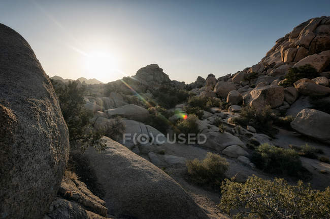 Rocky landscape before sunset — Stock Photo