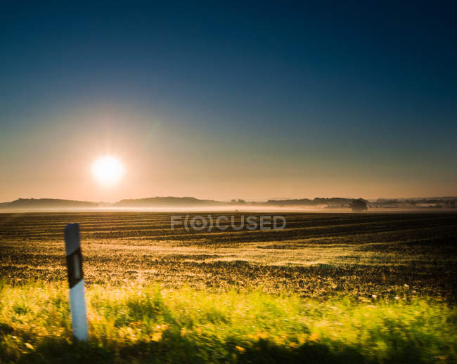 Scenic field view at sunset time — Stock Photo