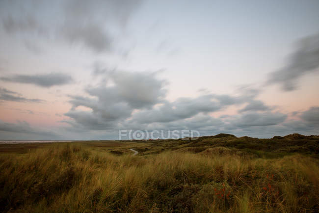 Scenic natural landscape view in sunset light — Stock Photo