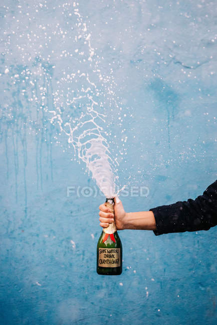 Save Water drink champagne — Stock Photo